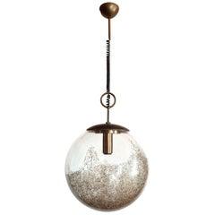 Large Mid-Century Modern Murano Glass Ball Chandelier, Carlo Nason, Mazzega 1960