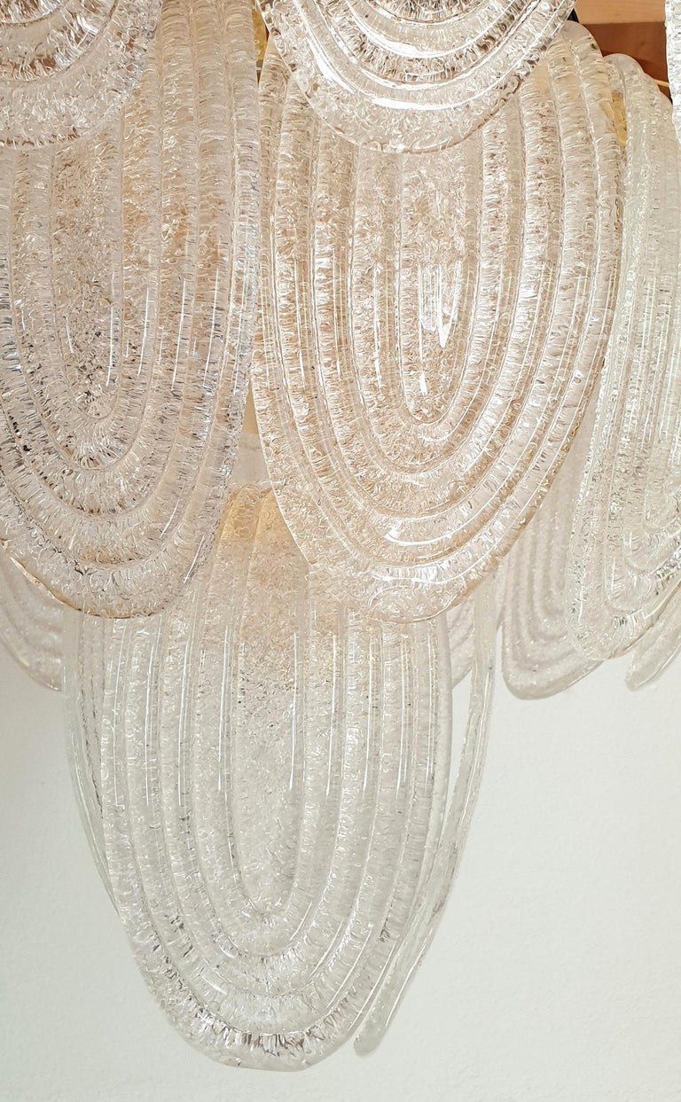 Large Mid-Century Modern Murano Glass Chandelier/Flushmount Mazzega Style - 2 av For Sale 3