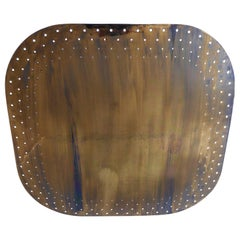Large Mid-Century Modern Perforated Brass Chandelier Pendant Lamp 1950s Germany