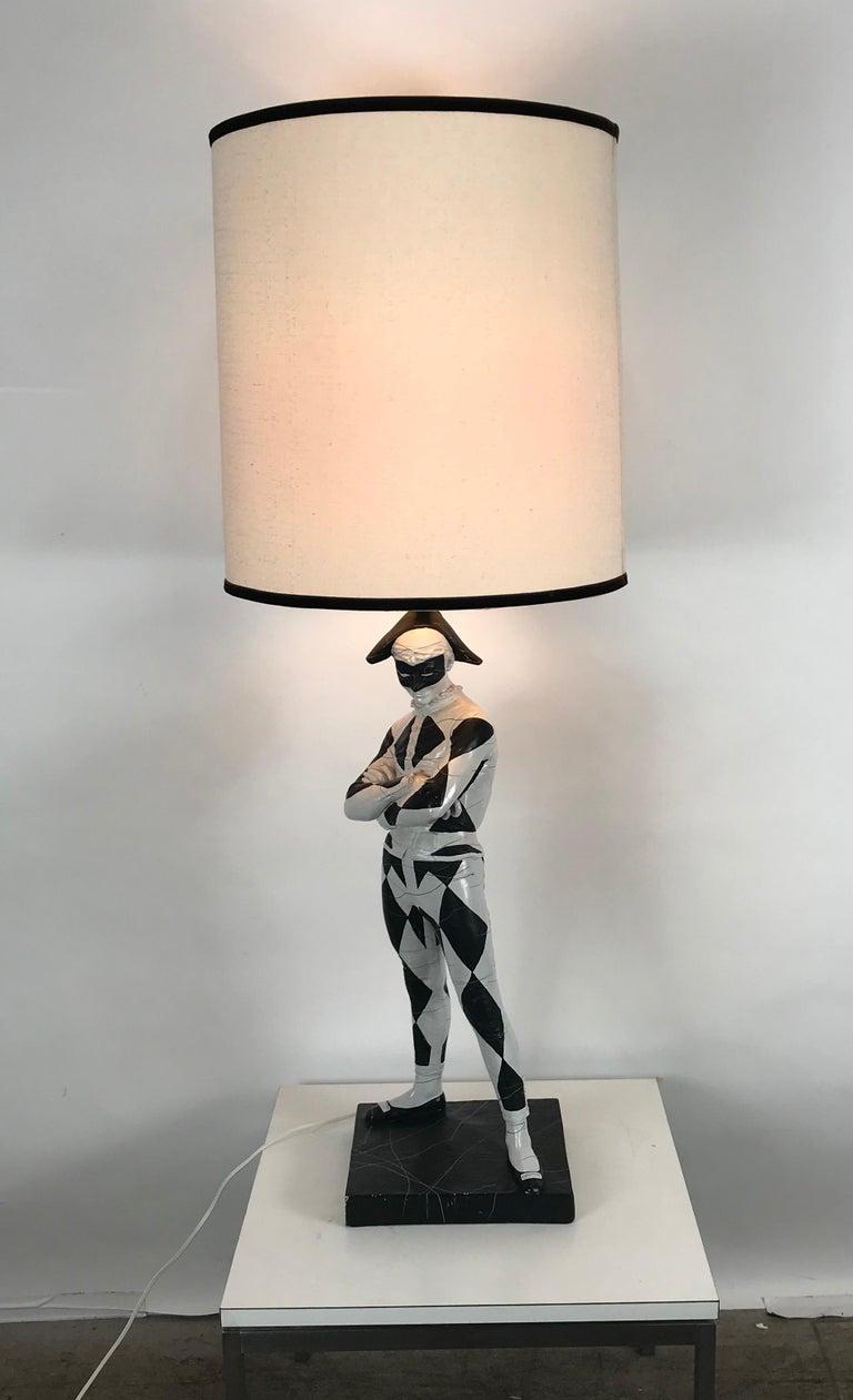 Large Mid-Century Modern Plaster Lamp