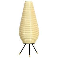 Large Mid Century Modern Rotaflex Heifetz tripod table lamp