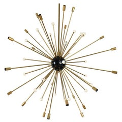 Large Mid-Century Modern Iconic Sputnik Chandelier, ca. 1958. Period Authentic.