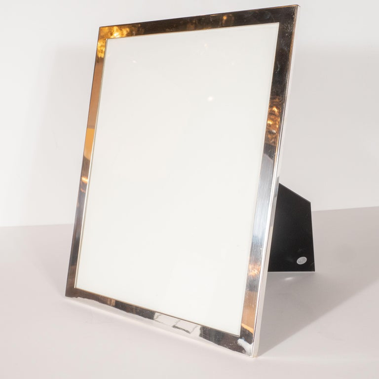 American Large Mid-Century Modern Sterling Silver Picture Frame by Tiffany & Co. For Sale
