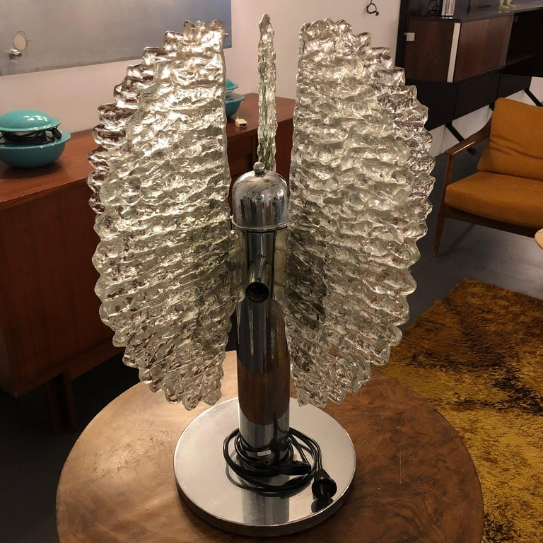 Large Mid-Century Modern Table Lamp by Carlo Nason for Mazzega, Made in Italy For Sale 1