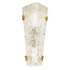 Large Mid-Century Modern Triangular Murano Glass Sconce, 1960s