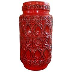 Large Mid-Century Modern West German Glazed Pottery Vase