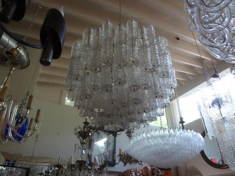 Italian Large Mid-Century Murano Glass Chandelier by Toni Zuccheri for Venini For Sale