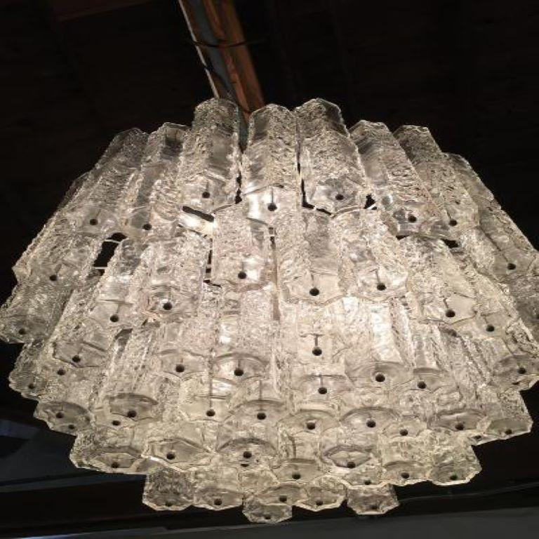 Mid-Century Modern Large Mid-Century Murano Glass Chandelier by Toni Zuccheri for Venini For Sale