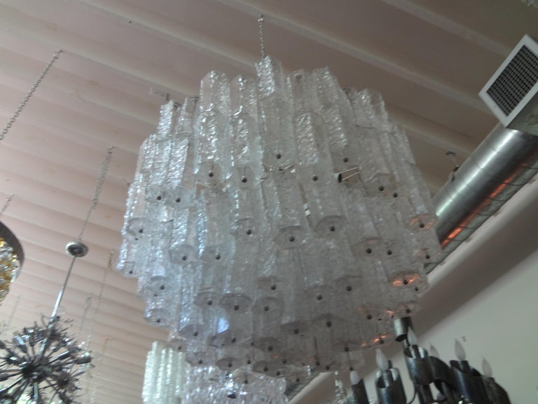 Mid-20th Century Large Mid-Century Murano Glass Chandelier by Toni Zuccheri for Venini For Sale