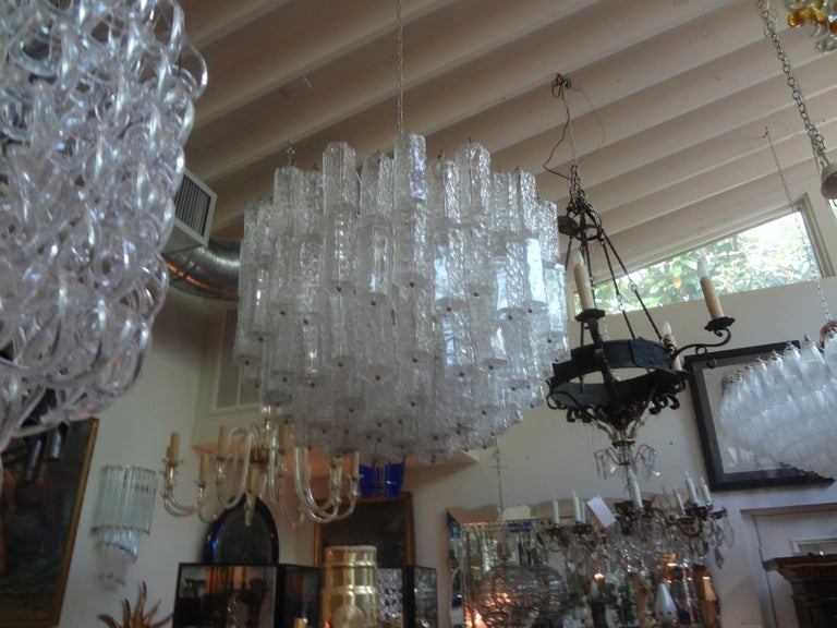 Large Mid-Century Murano Glass Chandelier by Toni Zuccheri for Venini For Sale 1
