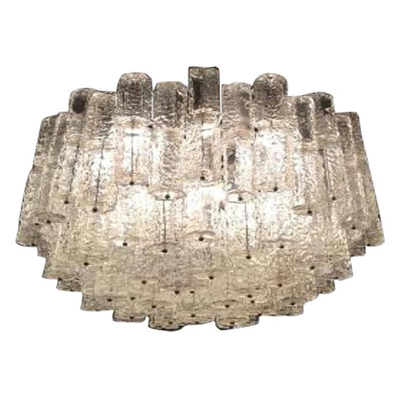 Large Mid-Century Murano Glass Chandelier by Toni Zuccheri for Venini