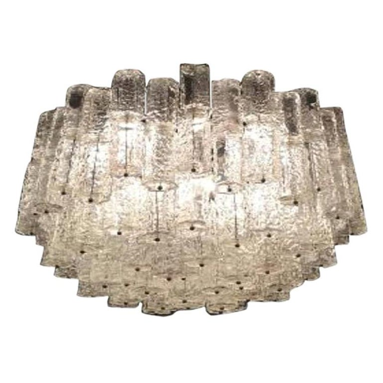 Large Mid-Century Murano Glass Chandelier by Toni Zuccheri for Venini For Sale