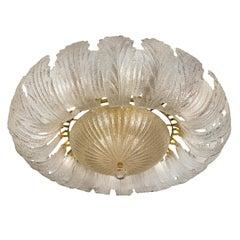 Large Mid-Century Murano Glass Light Fixture