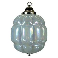 Large Midcentury Opaline Glass Pendant