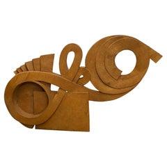 Large Mid Century Organic Wooden Sculpture