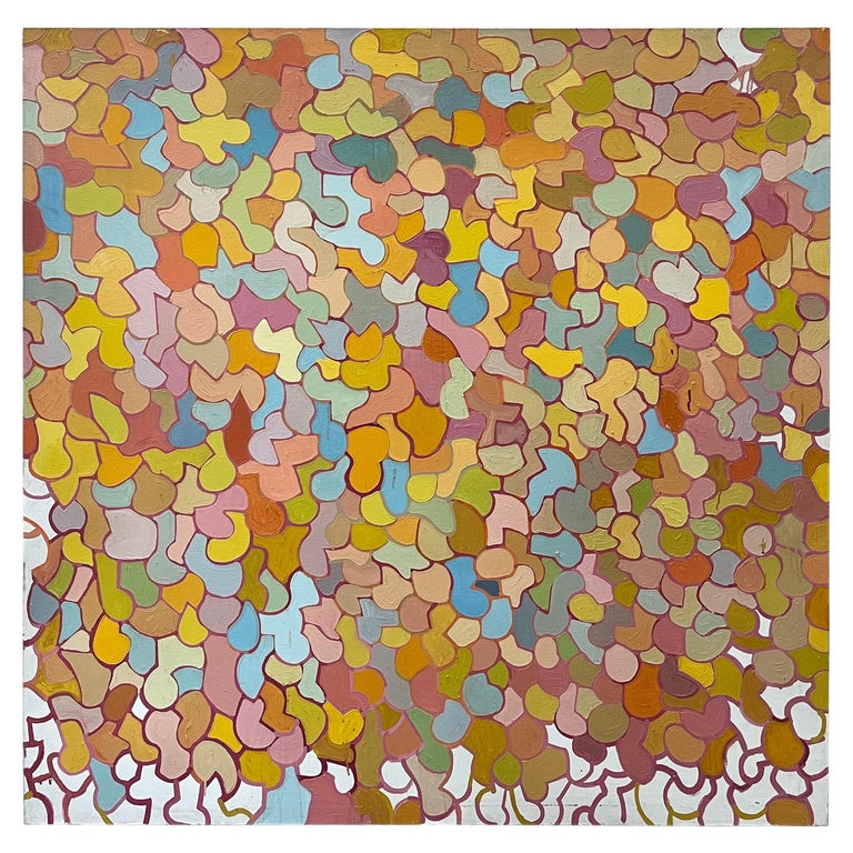 Large Mid-Century Original Oil on Canvas Abstract Painting by Patricia Sloane For Sale