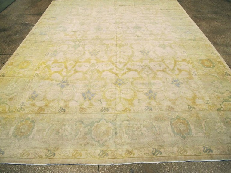 20th Century Large Mid-Century Persian Modernist Carpet With Soft Colors For Sale