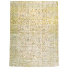 Large Mid-Century Persian Modernist Carpet With Soft Colors