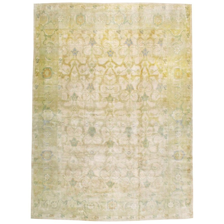 Large Mid-Century Persian Modernist Carpet With Soft Colors For Sale
