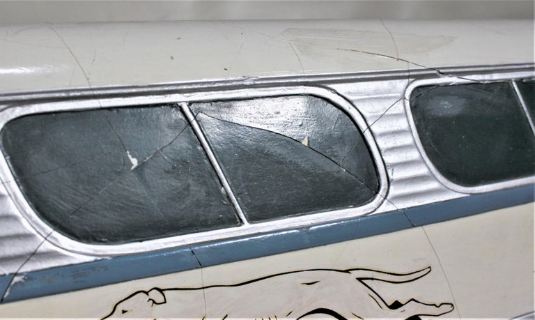 Large Mid-Century Plaster 'Scenicruiser' Greyhound Bus Advertising Display Model For Sale 6