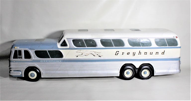 North American Large Mid-Century Plaster 'Scenicruiser' Greyhound Bus Advertising Display Model For Sale