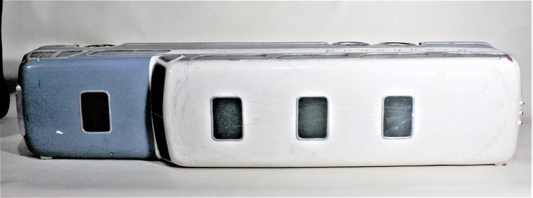 20th Century Large Mid-Century Plaster 'Scenicruiser' Greyhound Bus Advertising Display Model For Sale