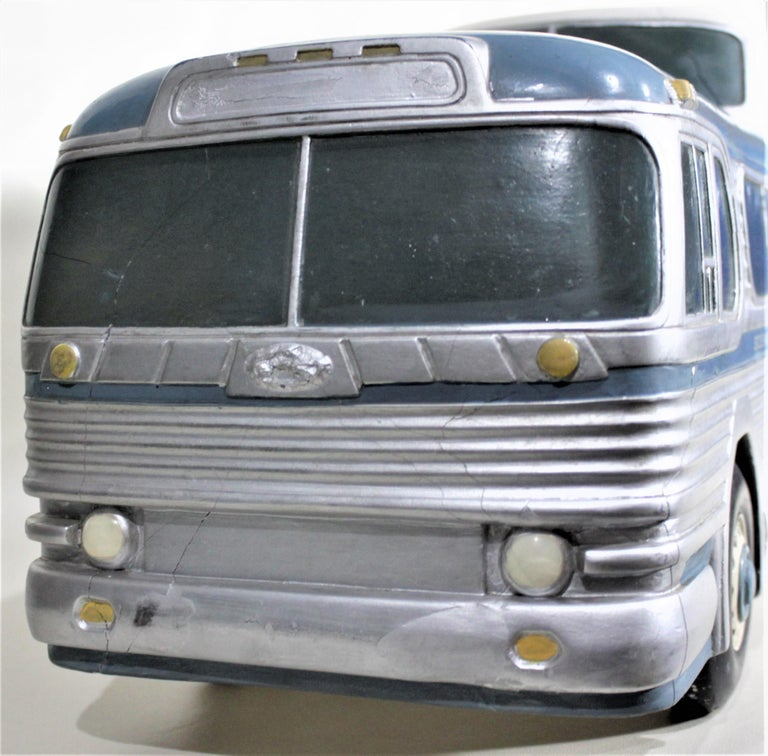 Large Mid-Century Plaster 'Scenicruiser' Greyhound Bus Advertising Display Model For Sale 1