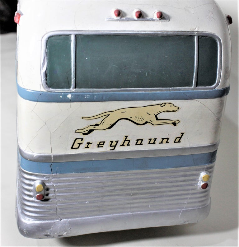 Large Mid-Century Plaster 'Scenicruiser' Greyhound Bus Advertising Display Model For Sale 2