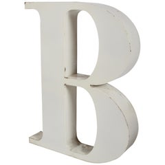 "Large Midcentury Porcelain Letter ""B"" from the Stix Baer and Fuller Sign"