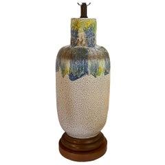 Large Mid Century Porcelain Table Lamp