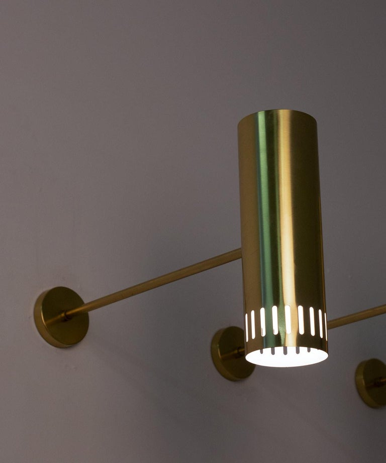 Large Midcentury Scandinavian Brass Wall Lamps by Boréns For Sale 5