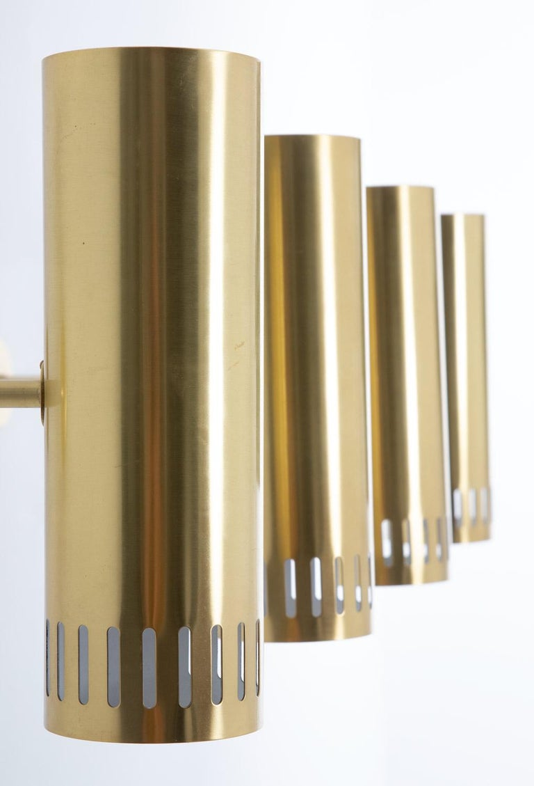 Large Midcentury Scandinavian Brass Wall Lamps by Boréns For Sale 1