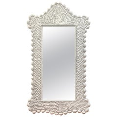 Large Mid Century Serge Roche Style Shell Encrusted Mirror