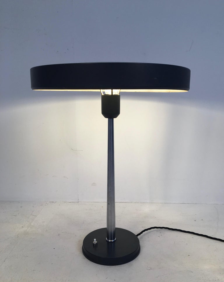 Large Midcentury 'Timor' Desk Lamp, L. Kalff for Philips Netherlands, circa 1950 In Good Condition For Sale In London, GB