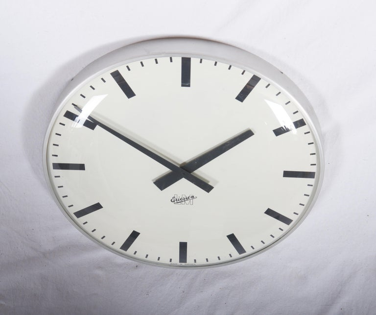 Mid-Century Modern Large Midcentury Wall Clock by LM Ericsson For Sale