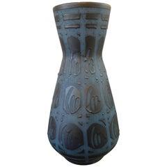 Large Midcentury West German Matte Glazed Ceramic Vase