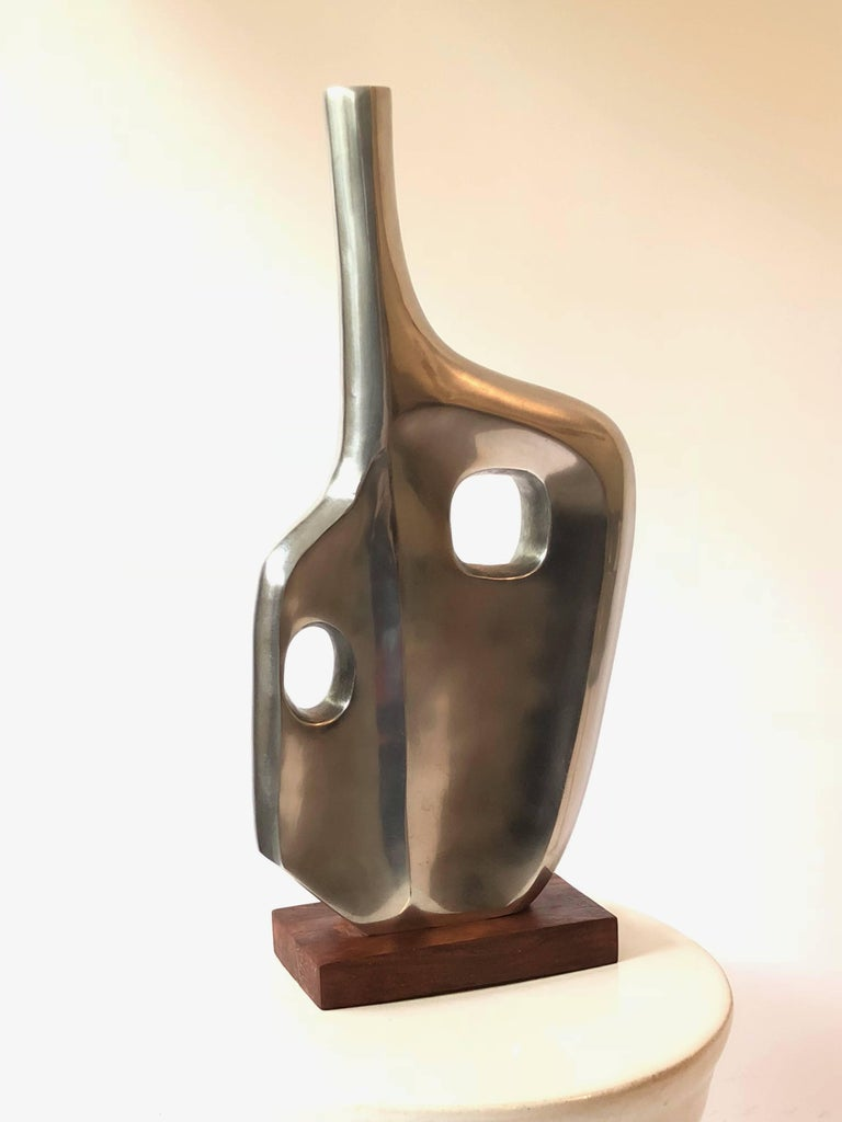 Mid-Century Modern Large Midcentury Style Abstract Chrome Sculpture in the Style of Dorothy Dehner For Sale