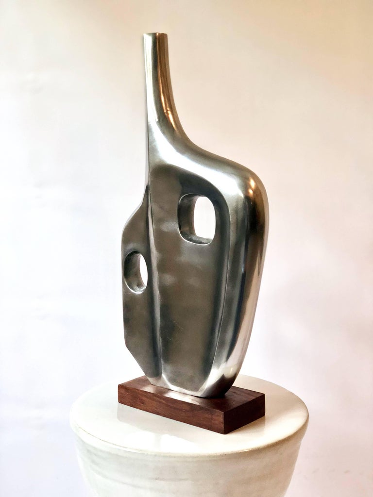 20th Century Large Midcentury Style Abstract Chrome Sculpture in the Style of Dorothy Dehner For Sale