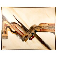 Large Midcentury Abstract Painting by Lee Reynolds
