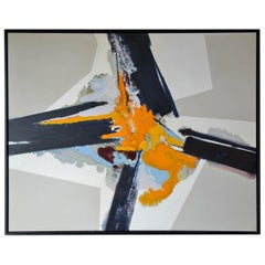 Large Midcentury Abstract Painting