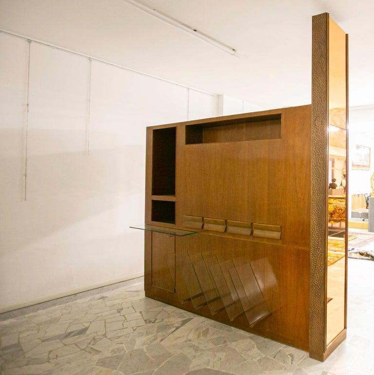 Walnut Large Midcentury Bar Cabinet by Osvaldo Borsani from 1950s For Sale