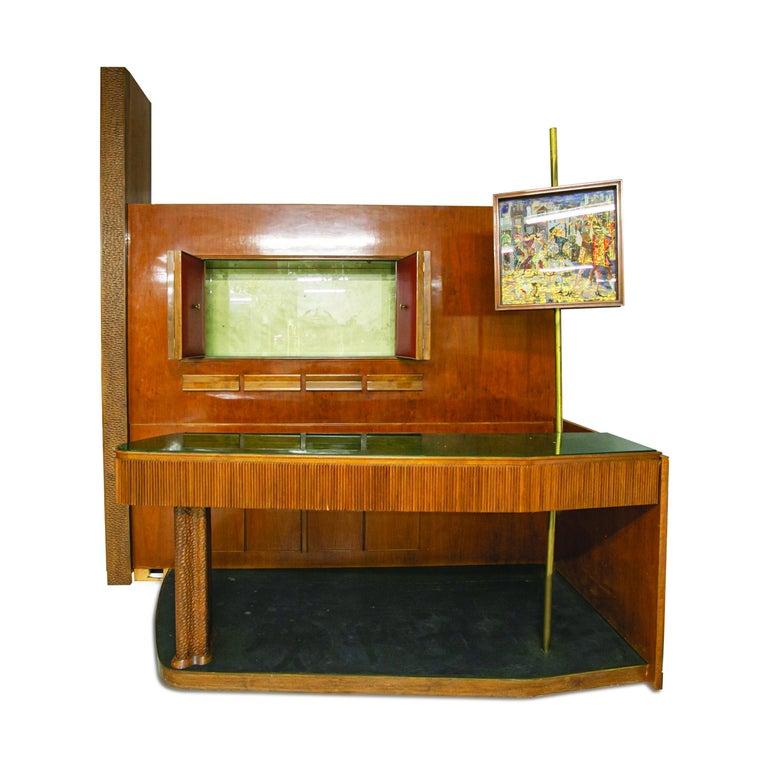 Large Midcentury Bar Cabinet by Osvaldo Borsani from 1950s For Sale