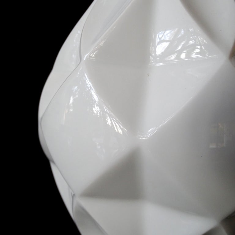 Large Midcentury Bavarian Architectonic Vase with Extruded Losange Pattern For Sale 3
