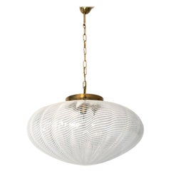 Large Midcentury Blown Glass Light Fixture