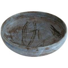 Large Midcentury Bruno Gambone Studio Ceramic Bowl, Italy