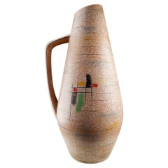 Large Midcentury Ceramic Vase-Vessel from Scheurich, Germany, 1960s