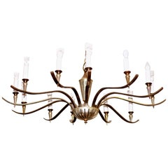 Large Midcentury Chandelier