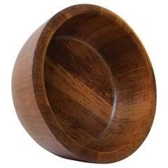 Large Midcentury Danish Teak Bowl by Richard Nissen, 1960s