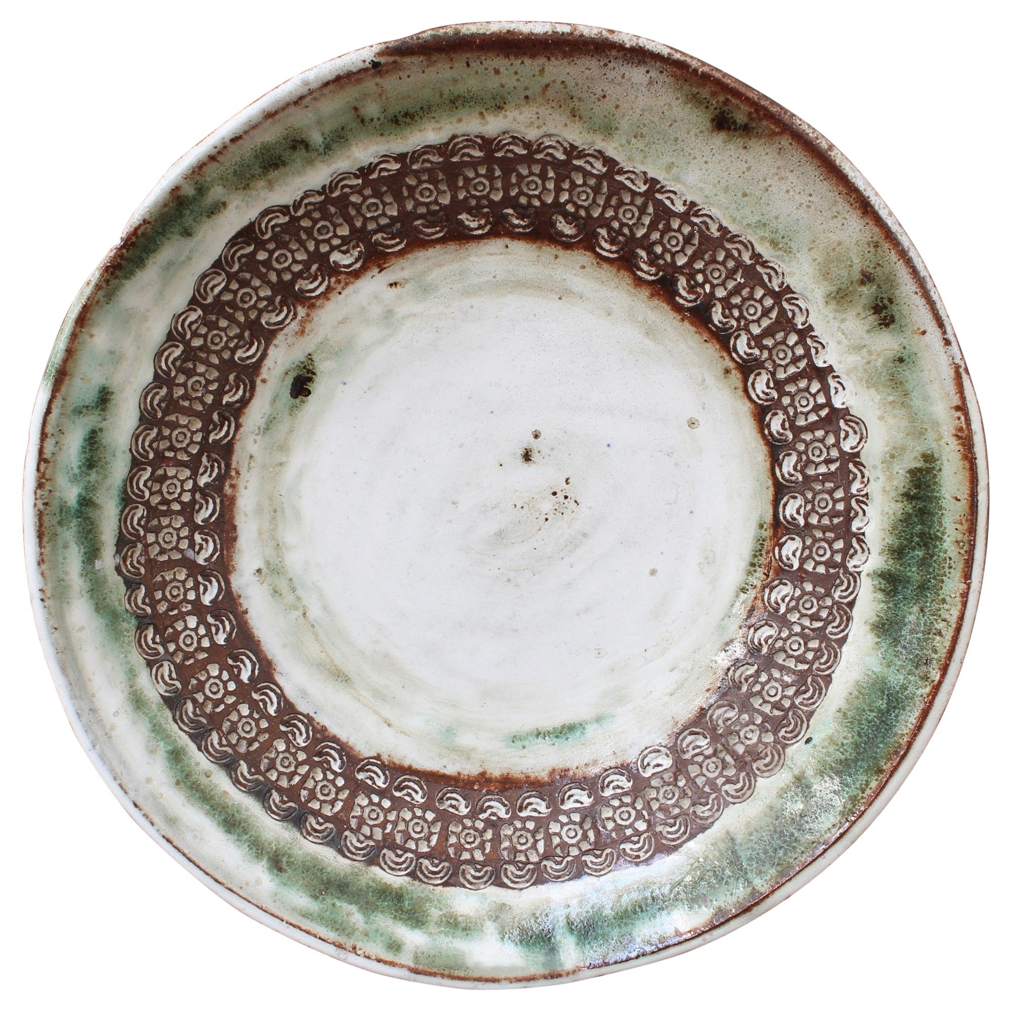 Large Midcentury Decorative Platter by Albert Thiry, circa 1960s