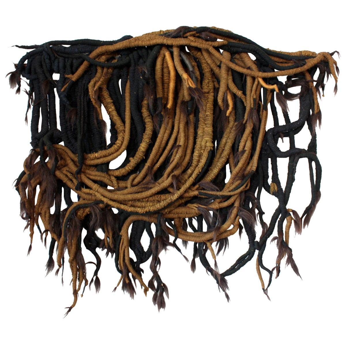 Large Midcentury Fiber Art Weaving
